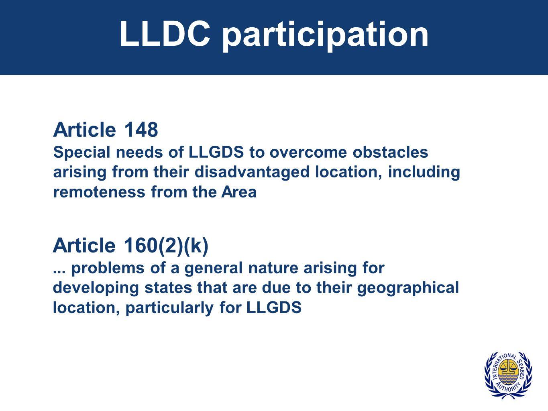 LLDC participation Article 148 Article 160(2)(k)