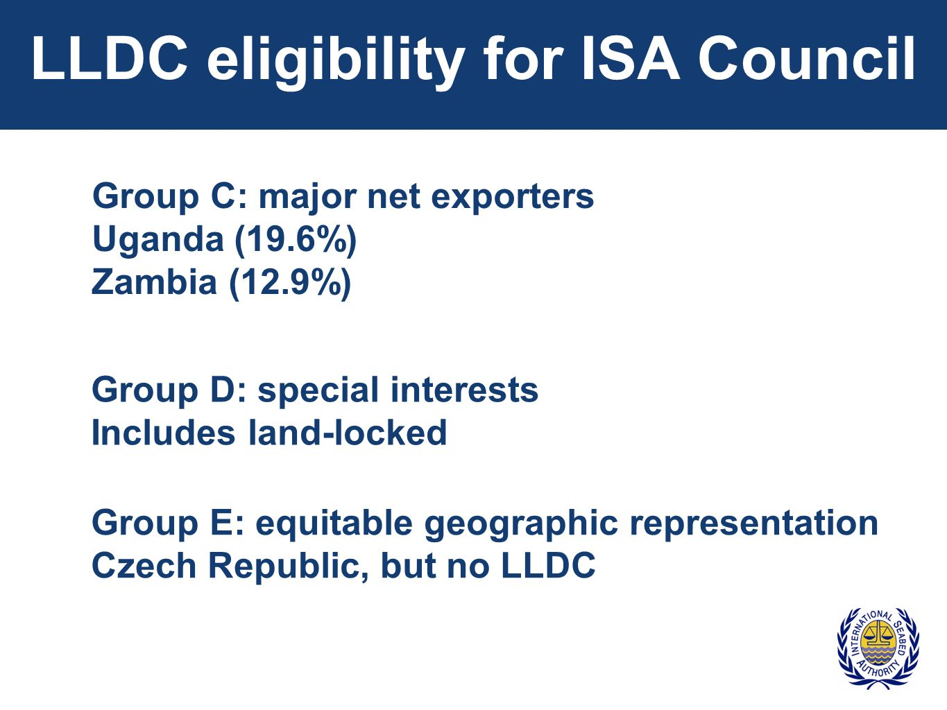 LLDC eligibility for ISA Council