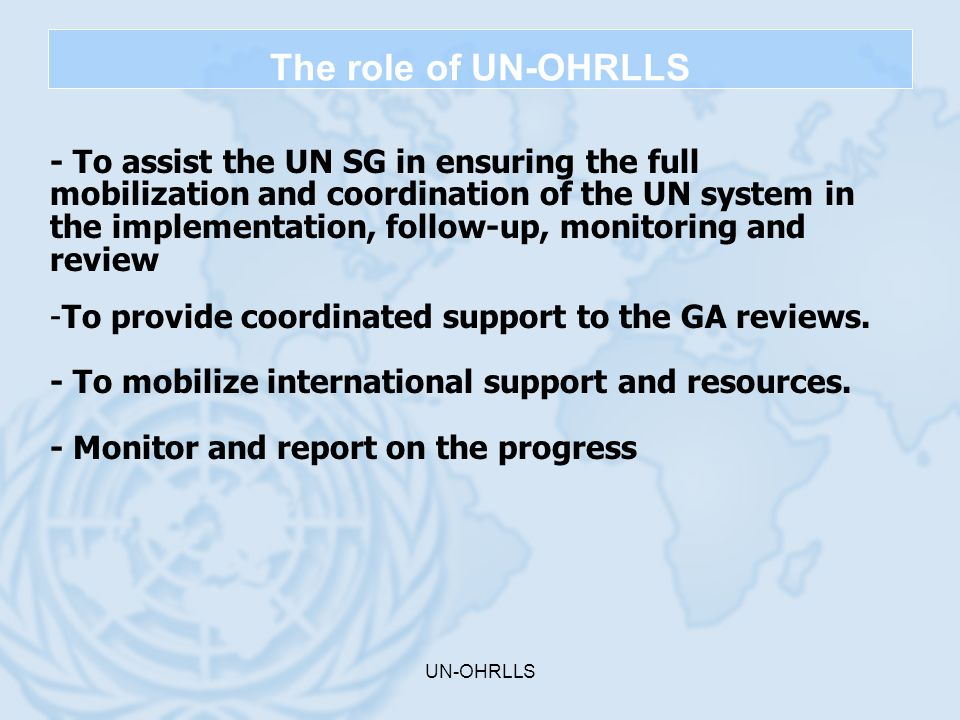 The role of UN-OHRLLS