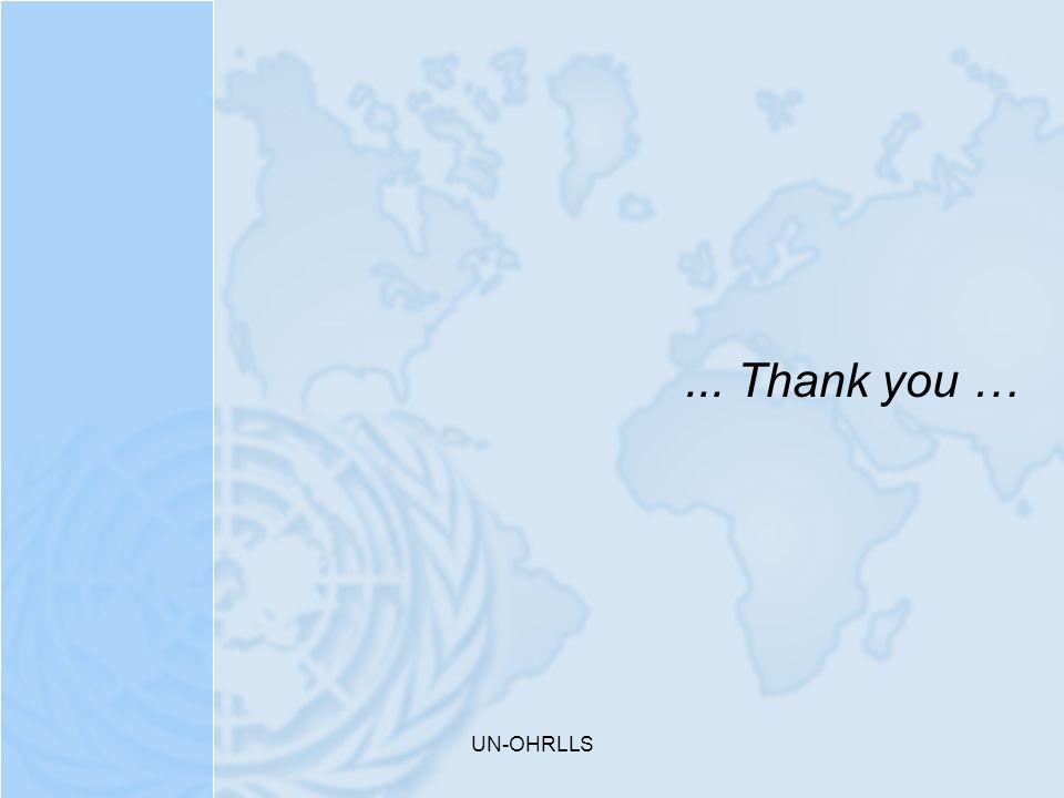 ... Thank you … UN-OHRLLS