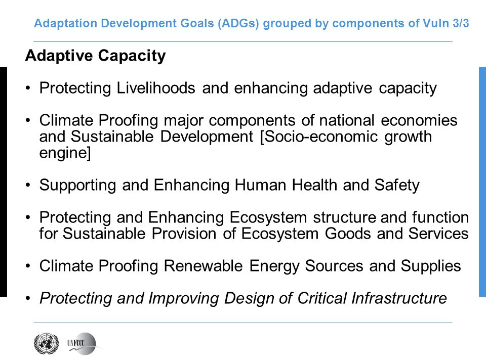 Adaptation Development Goals (ADGs) grouped by components of Vuln 3/3