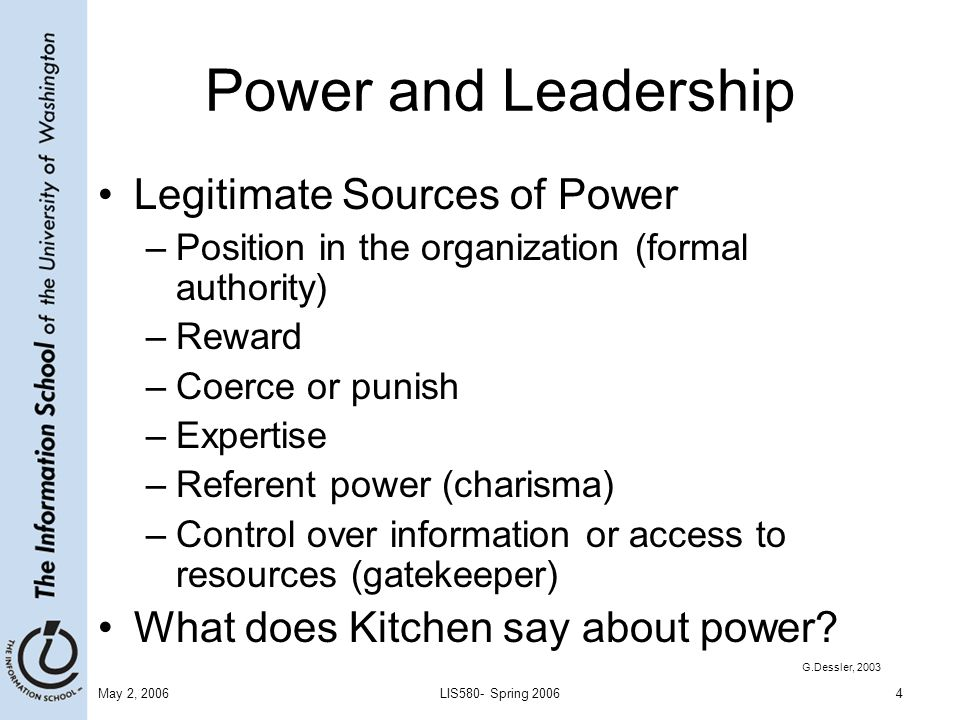 sources of power in leadership » how power works  there are eleven sources of power: five personal  high will power can increase your leadership and influence effectiveness by a factor.