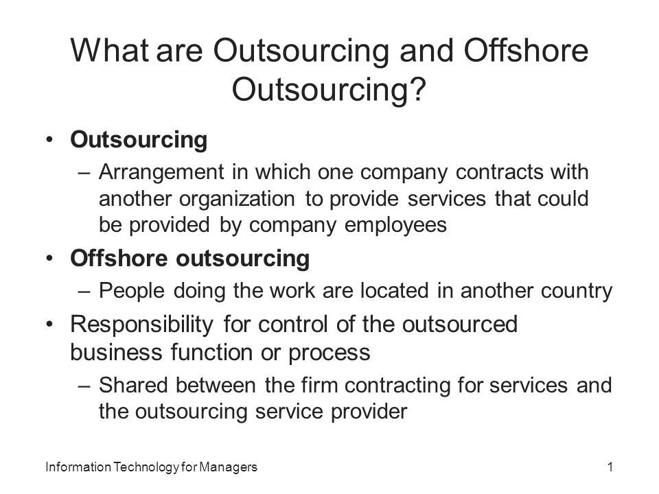 outsourcing ict in the tesco company It outsourcing: the reasons, risks and rewards by corporate computer services, inc as the owner of a small company, you have probably entertained the thought of outsourcing some aspect of your business.