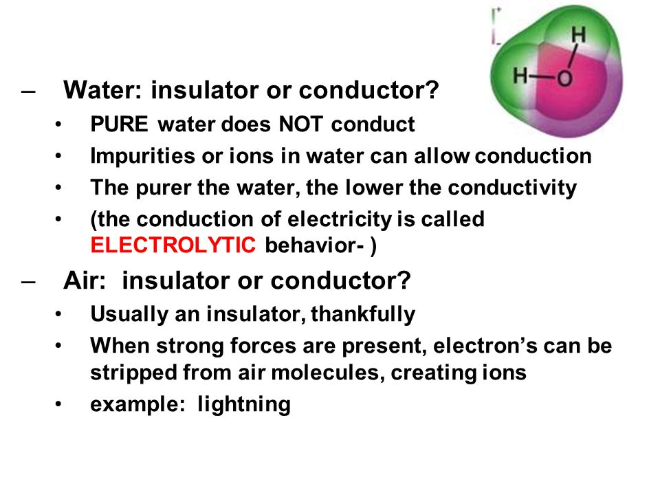 """Water As A Conductor : Static electricity """"electrostatics ppt video online"""