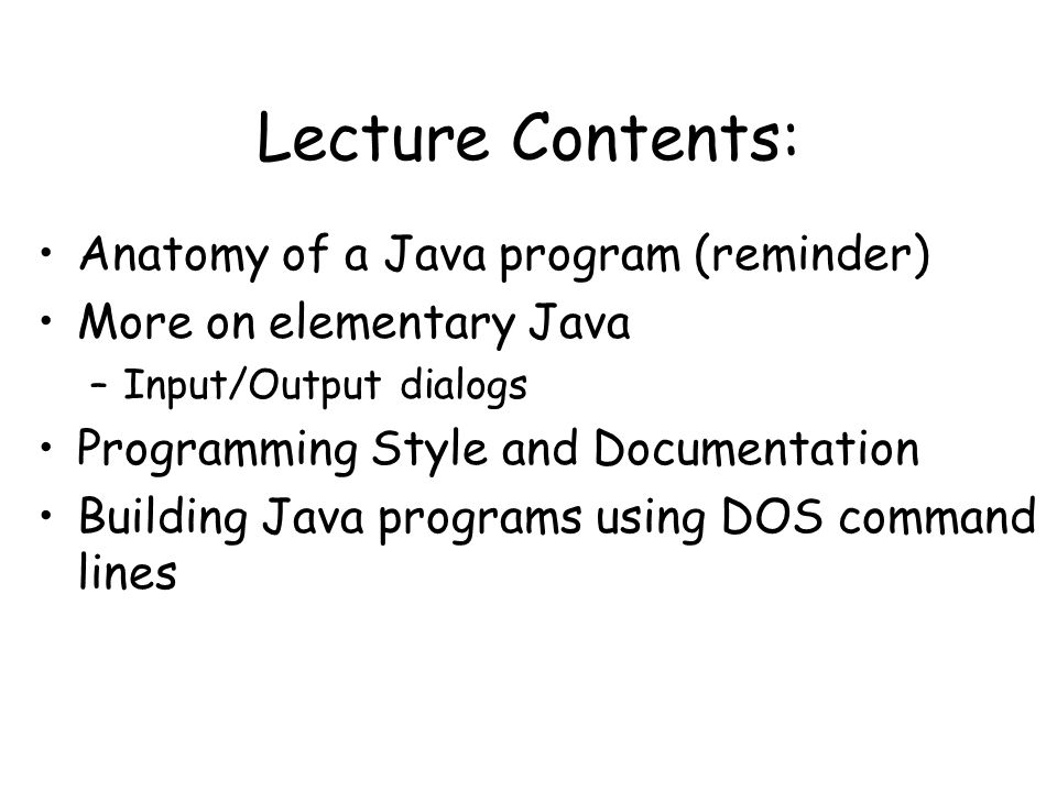 how to run java program in command line