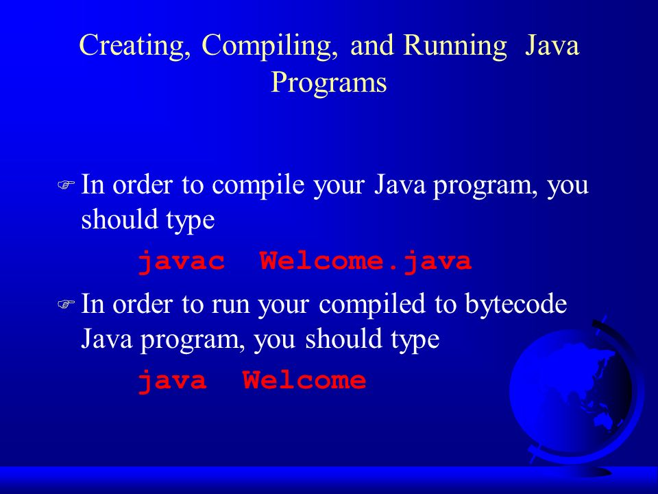 Building Java Programs Using Command Line Window Ppt