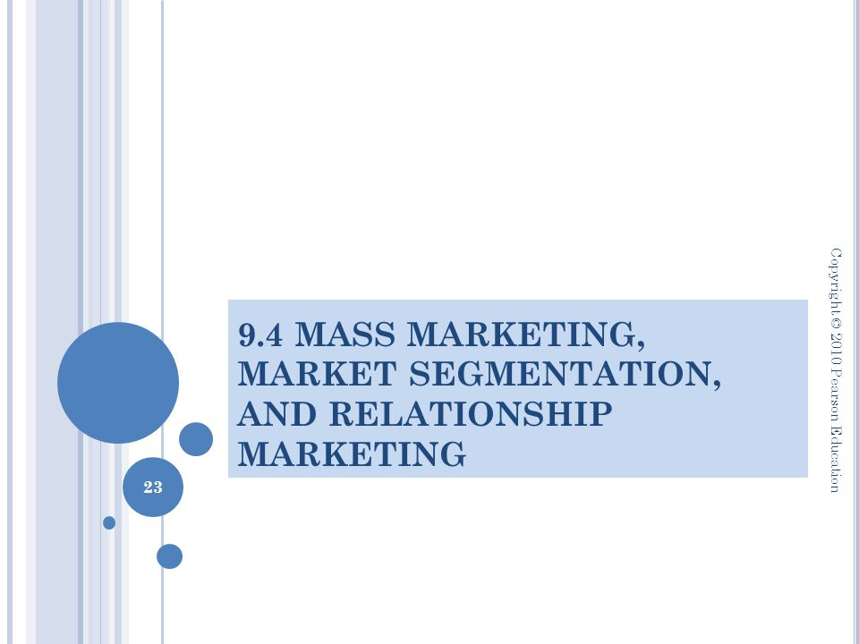 how do mass marketing and relationship differ