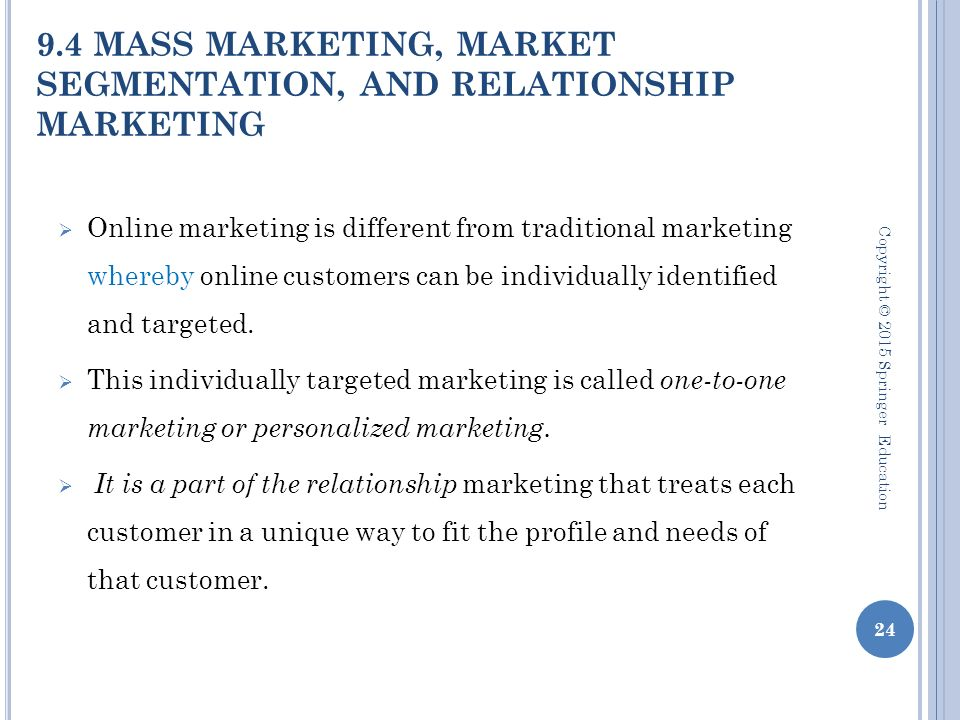 mass marketing and relationship