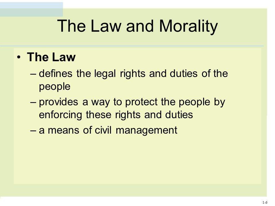 What Is the Difference Between Law and Morality?