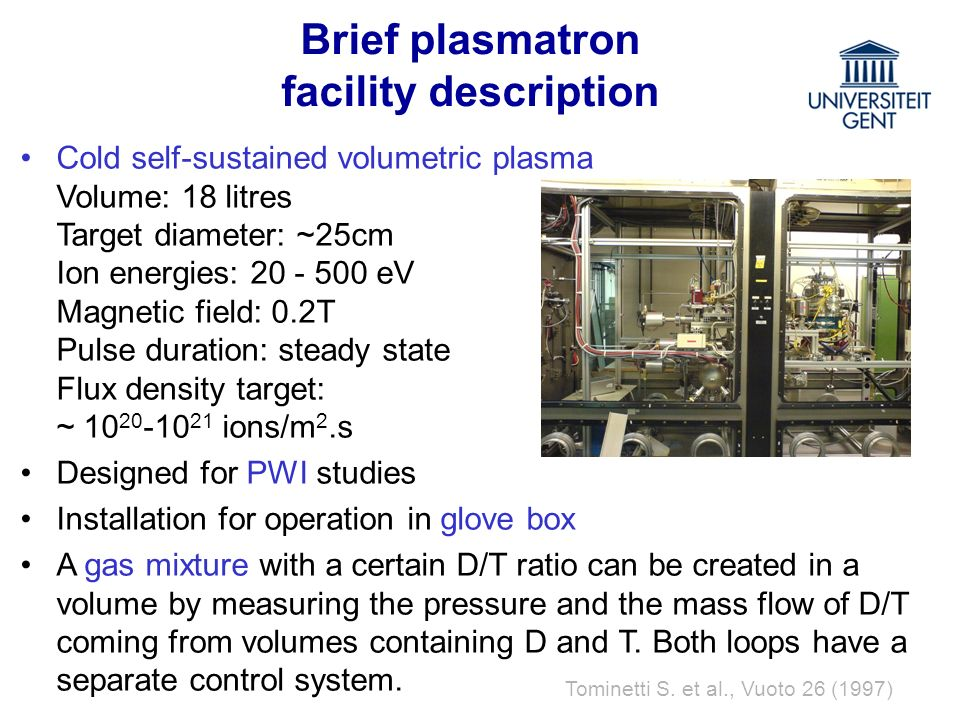 Brief plasmatron facility description
