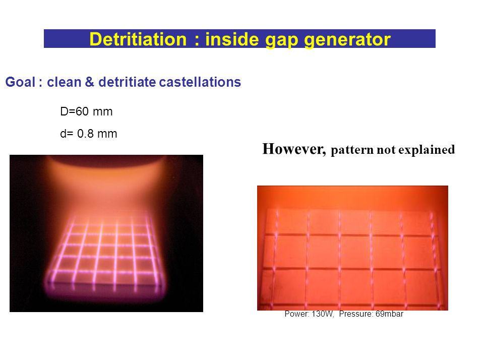 Detritiation : inside gap generator
