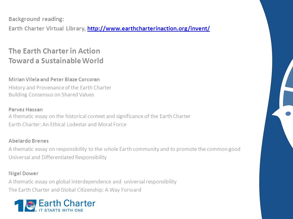 The earth charter essay