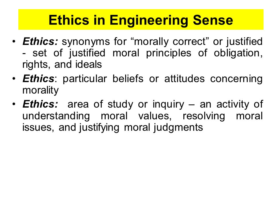 senses of engineering ethics