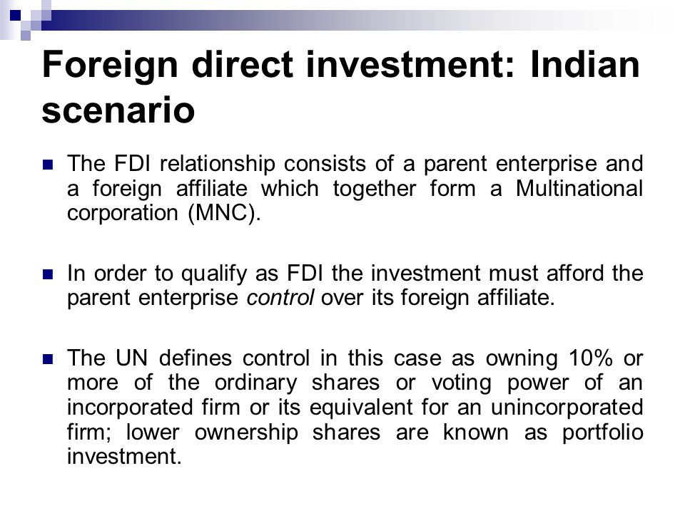 mnc and foreign direct investment in Multinational corporations and foreign direct investment sukumar nandi indian institute of management lucknow issues _ economic integration outward foreign direct investment (ofdi) from the emerging economies rose from us$335billion in 1995 to us$14trillion in 2005 (unctad, 2006: 103-104.