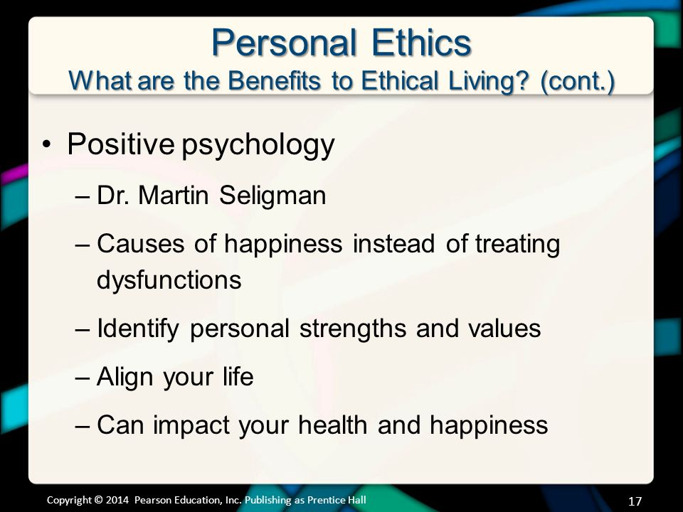 psych 660 individual on personal ethics View essay - ethics awareness inventory paper  from psychology 650 at  university of  ethics can affect a person's professional and personal life.
