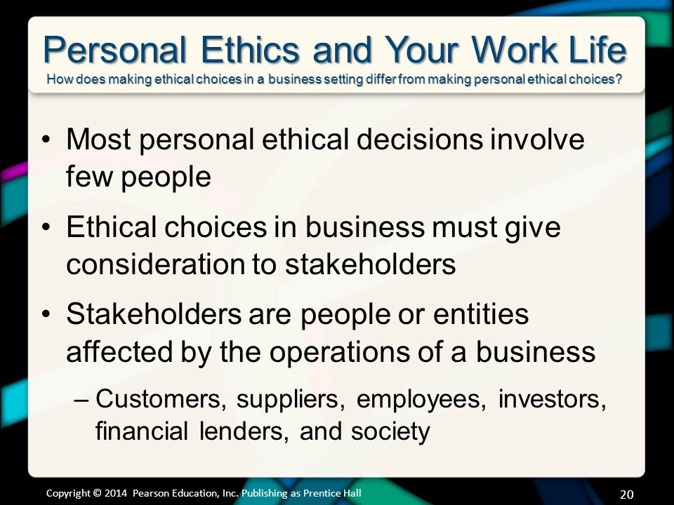 how do your individual ethics affect your professional decision making Ethical decision making for healthcare executives  professional and societal  procedures and guidelines to assist them with the ethics decision-making process.