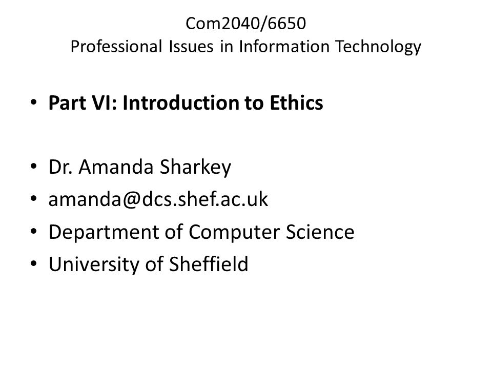 issues in information technology ethics