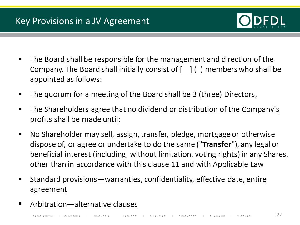 What thai management needs to know about new foreign investment key provisions in a jv agreement platinumwayz