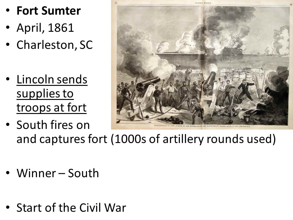 the role of fort sumter in the civil war