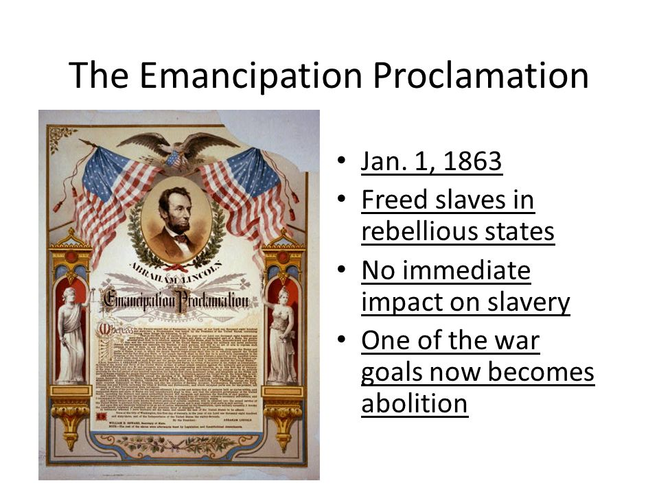 emancipation proclamation importance Emancipation proclamation definition, the proclamation issued by president lincoln on january 1, 1863, freeing the slaves in those territories still in rebellion.