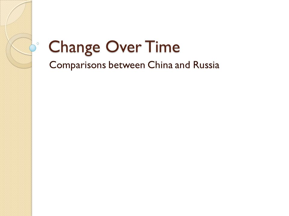 a comparison of the political systems of china and russia Russia experienced rapid political liberalization under general secretary mikhail gorbachev, followed by system collapse and the break-up of the soviet union china embarked.