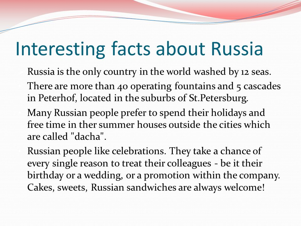 More Facts About Russia Russian 91