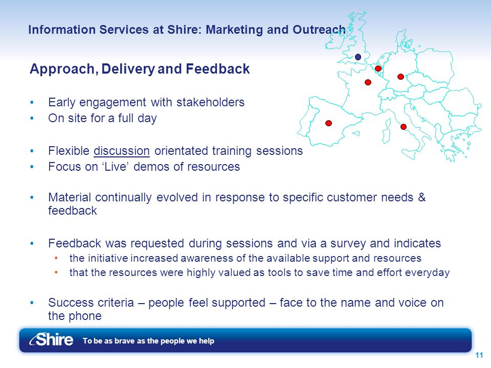 Information Services at Shire: Marketing and Outreach