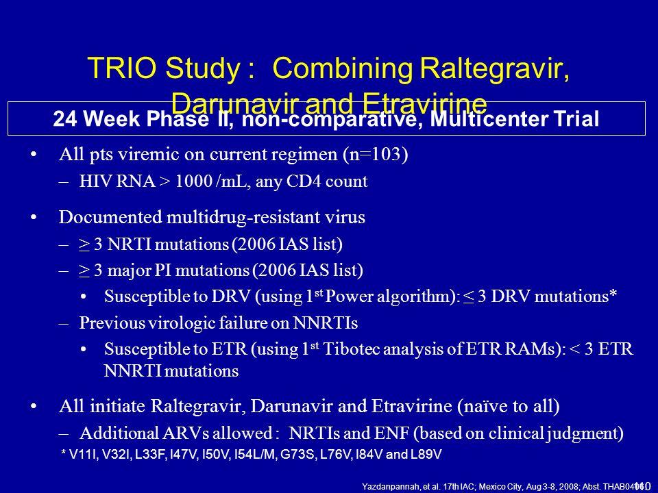 TRIO Study : Combining Raltegravir, Darunavir and Etravirine