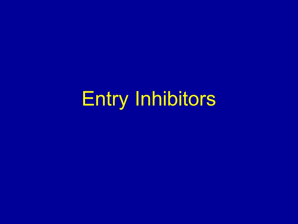 Entry Inhibitors Let's start with the entry inhibitors.