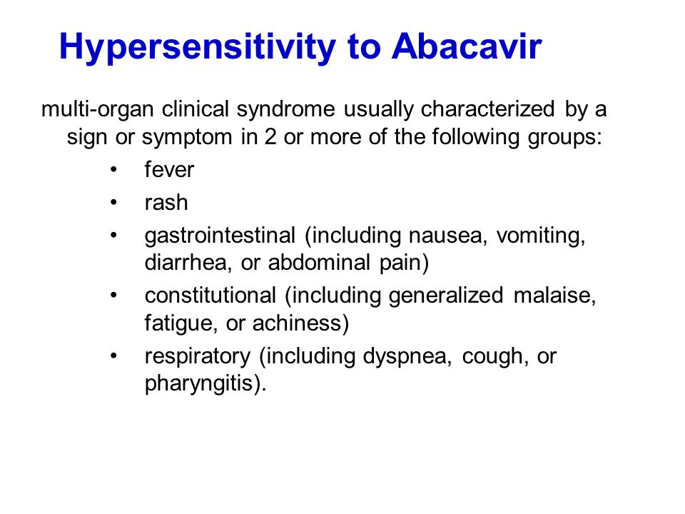 Hypersensitivity to Abacavir