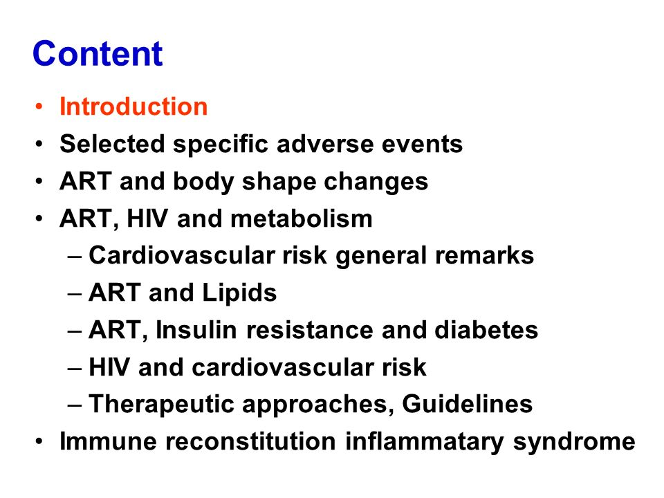 Content Introduction Selected specific adverse events