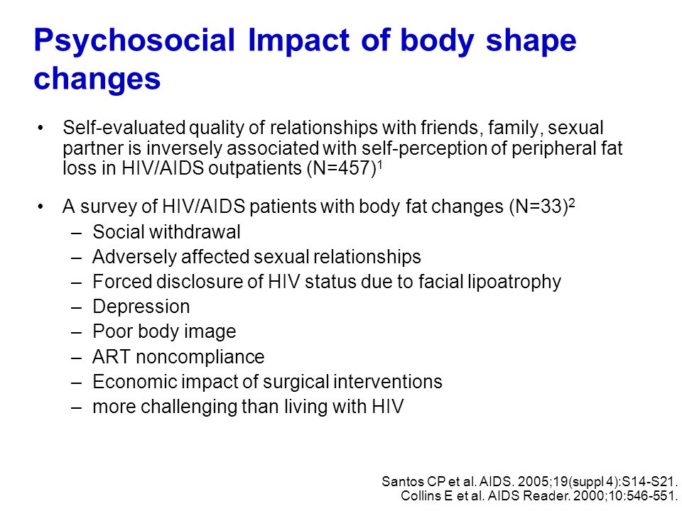 Psychosocial Impact of body shape changes