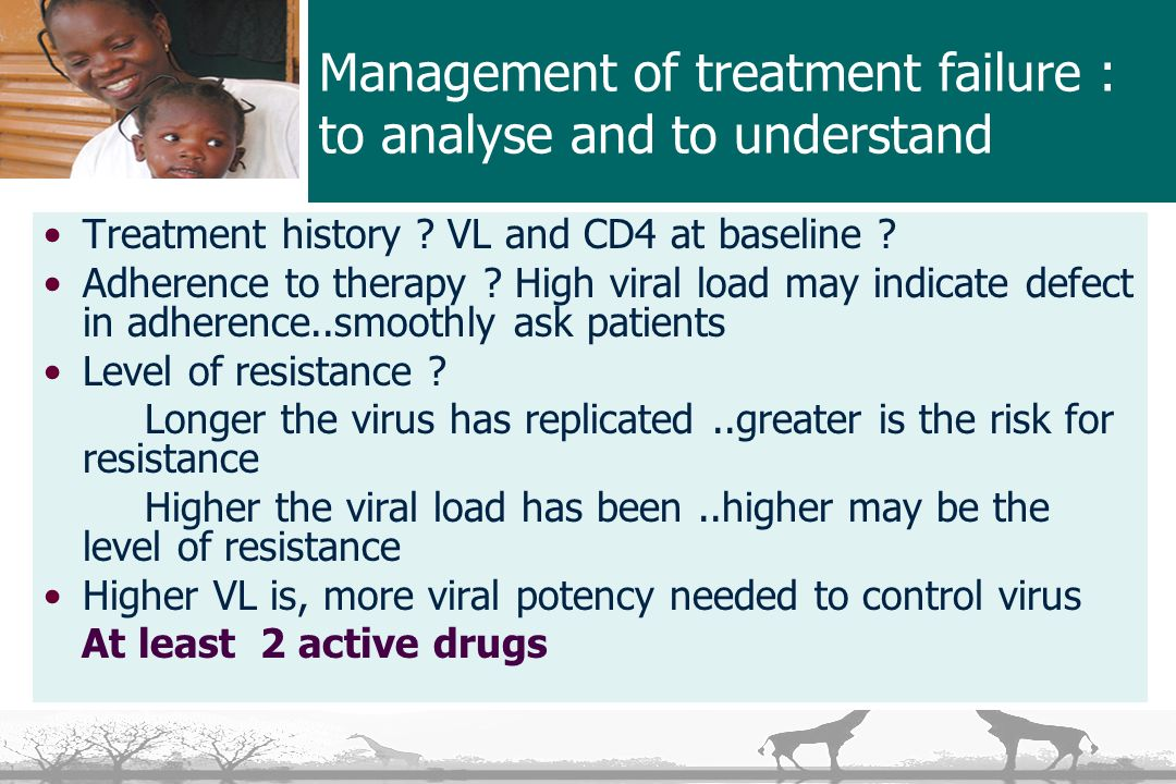 Management of treatment failure : to analyse and to understand