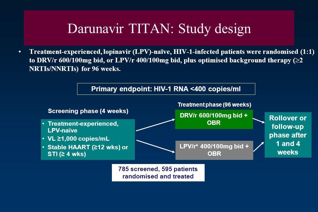 Darunavir TITAN: Study design