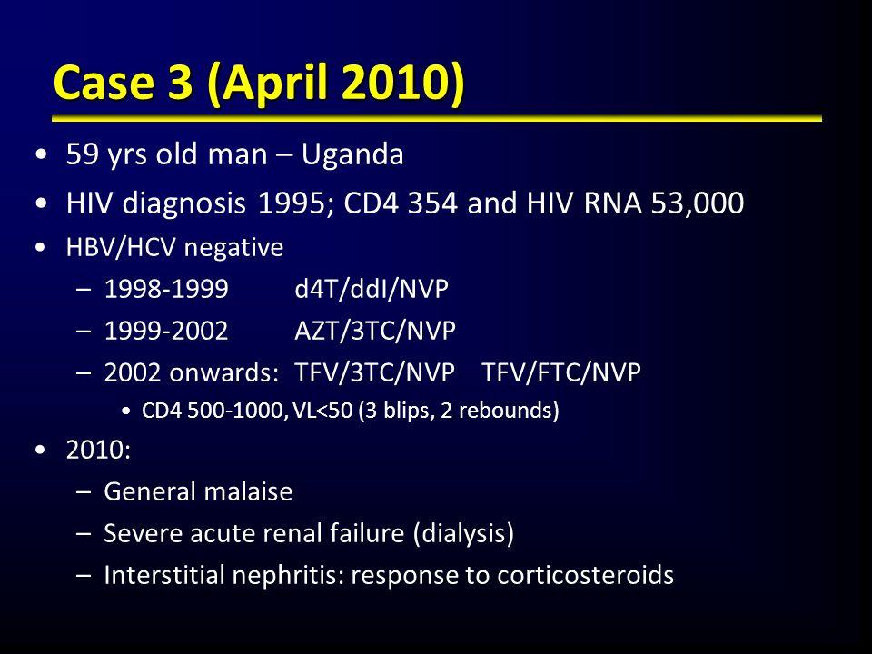 Case 3 (April 2010) 59 yrs old man – Uganda