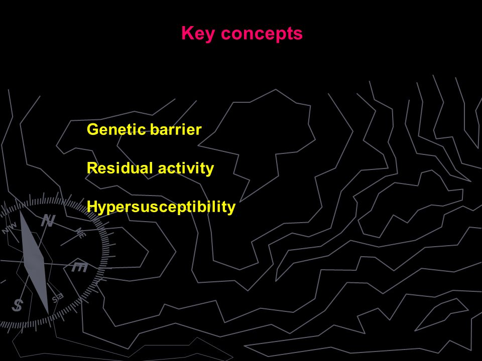 Genetic barrier Residual activity Hypersusceptibility