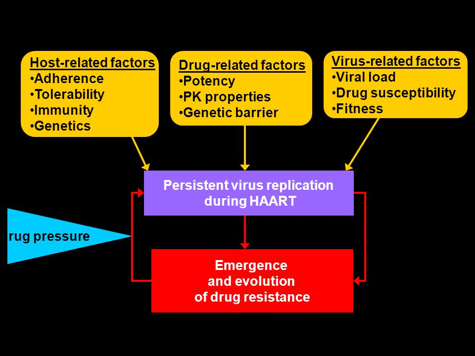 Virus-related factors Viral load Drug susceptibility Fitness