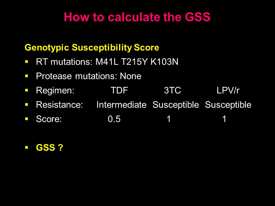 How to calculate the GSS