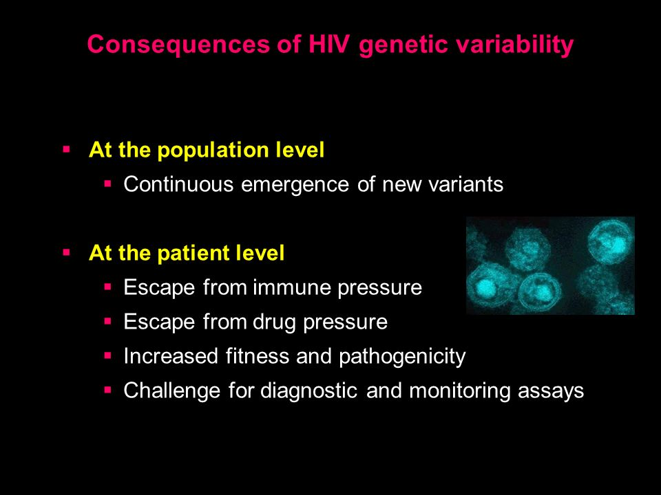 Consequences of HIV genetic variability
