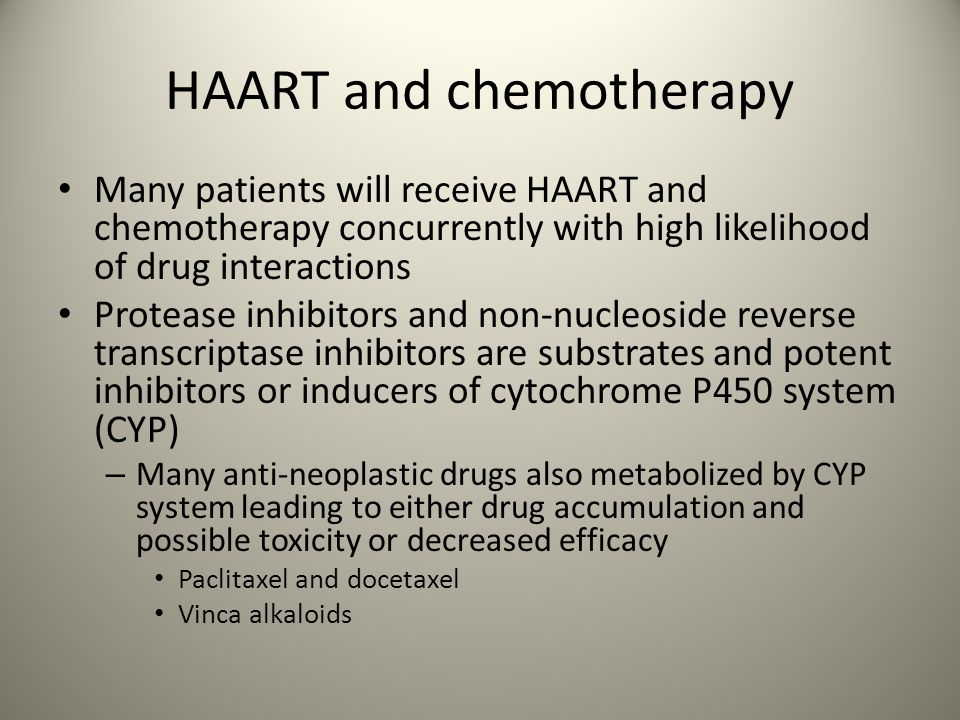 HAART and chemotherapy