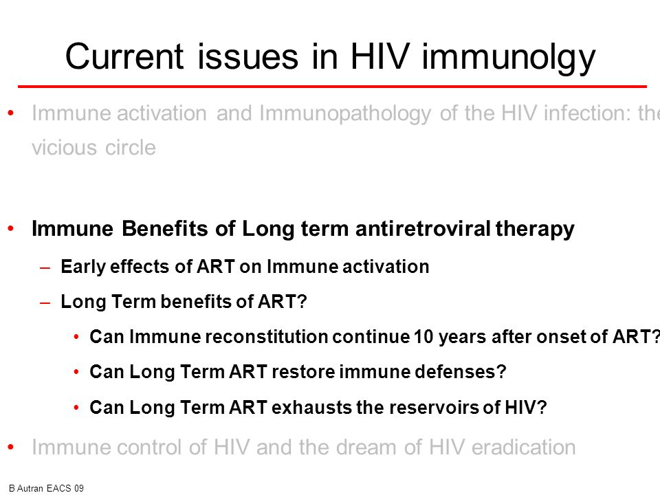 Current issues in HIV immunolgy