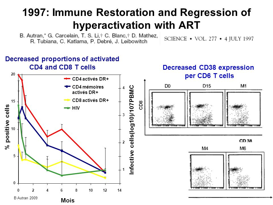 1997: Immune Restoration and Regression of hyperactivation with ART