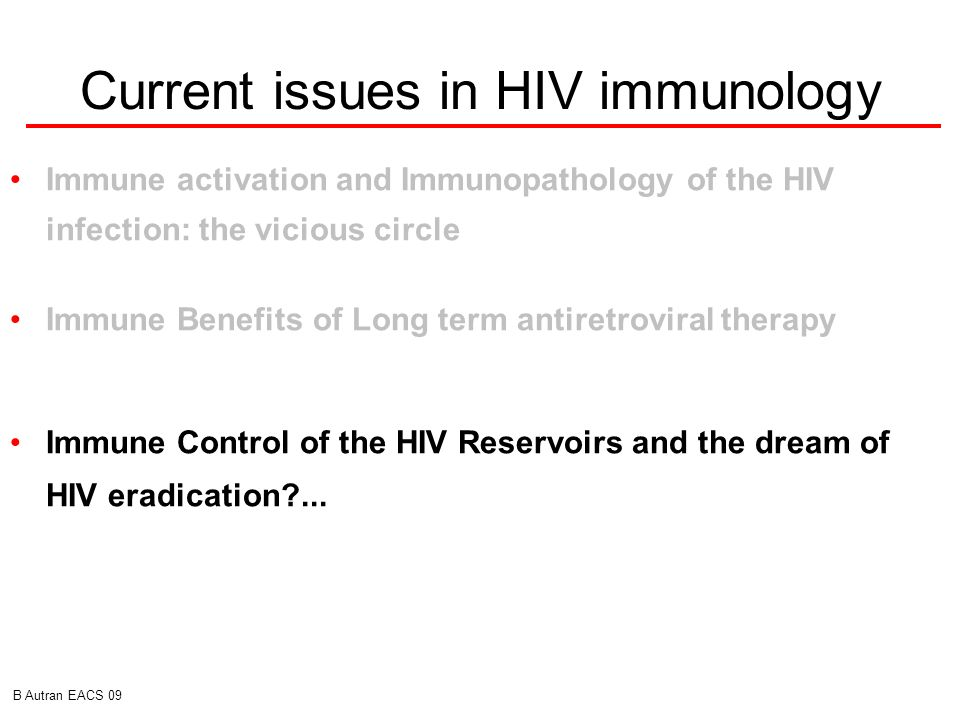 Current issues in HIV immunology