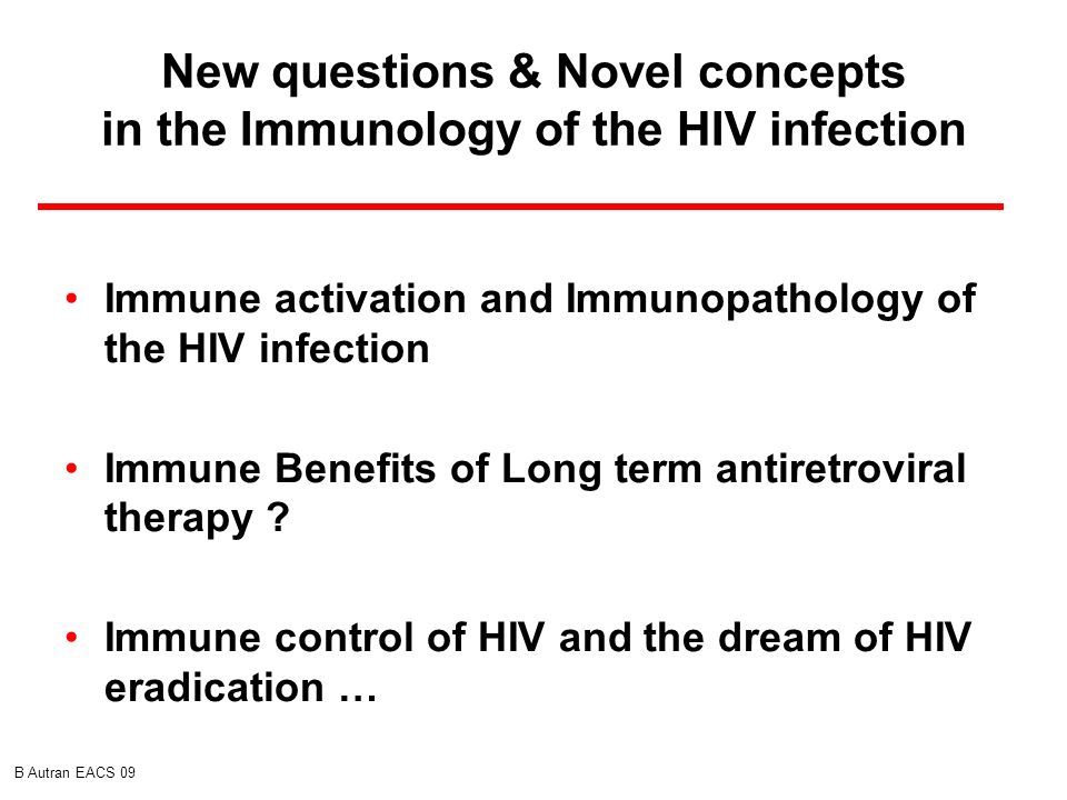 New questions & Novel concepts in the Immunology of the HIV infection