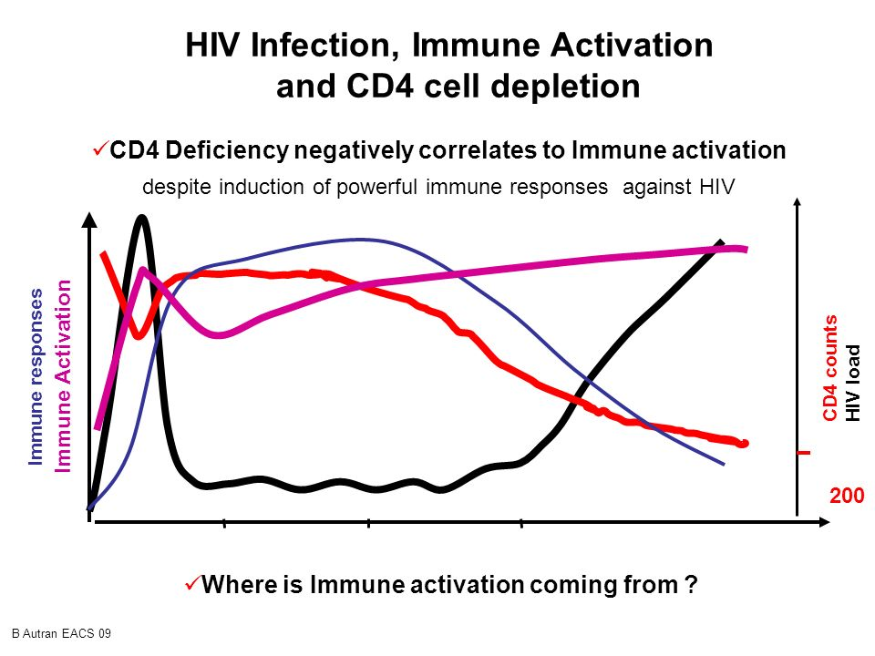 HIV Infection, Immune Activation and CD4 cell depletion