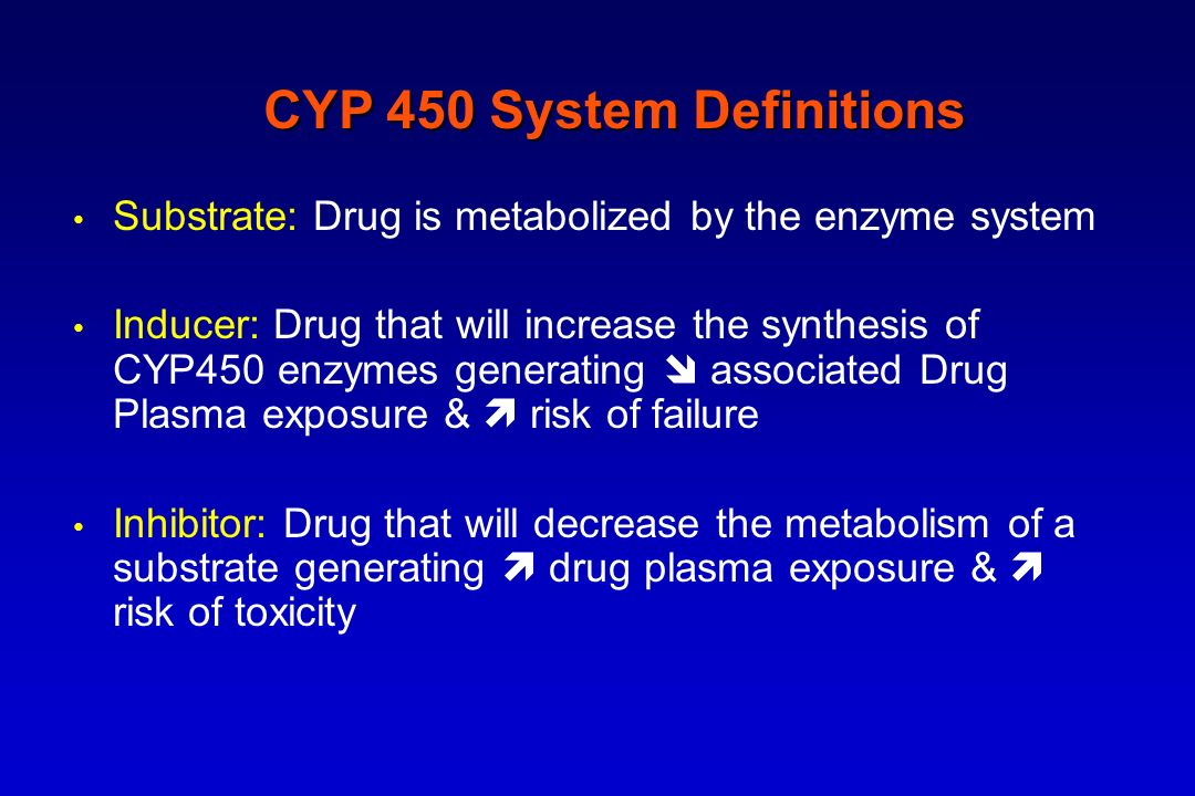 CYP 450 System Definitions