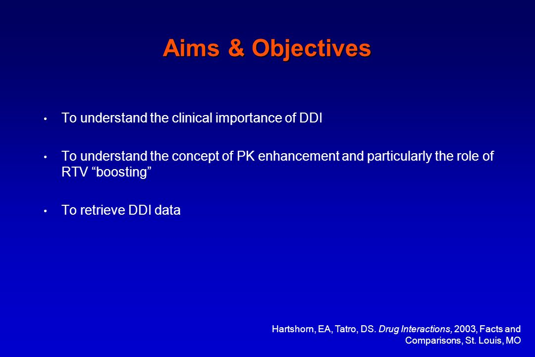 Aims & Objectives To understand the clinical importance of DDI