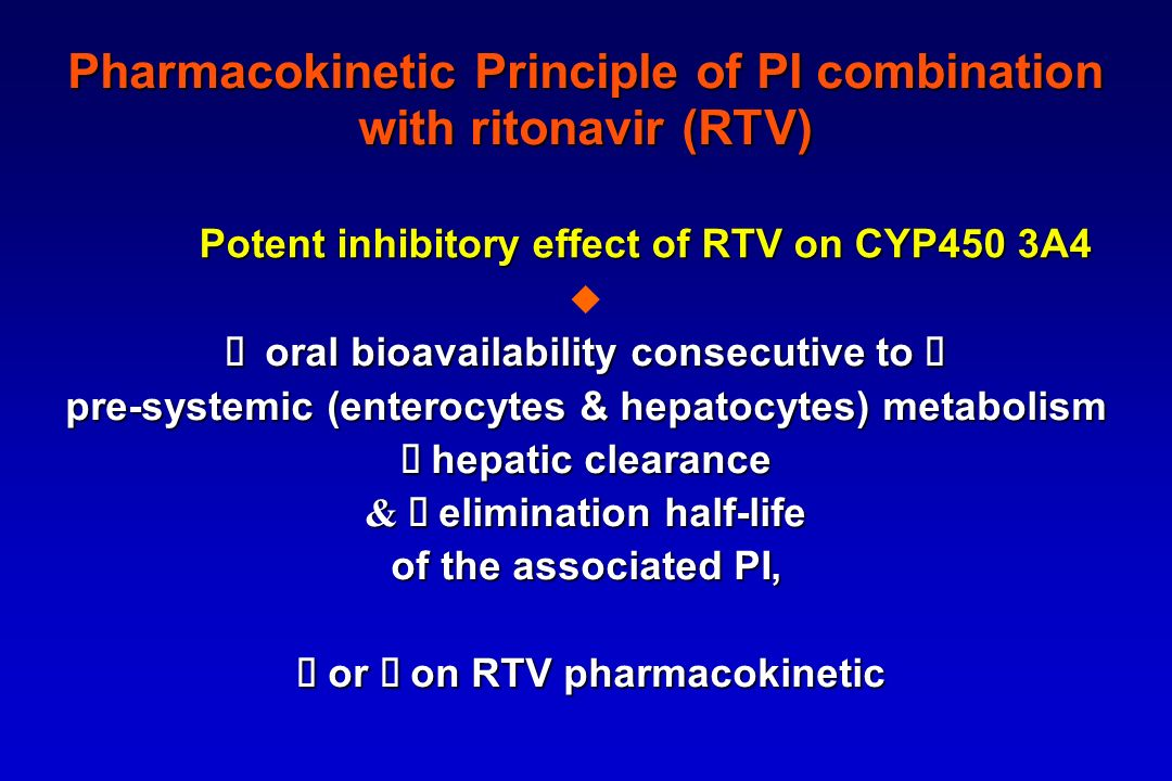 Pharmacokinetic Principle of PI combination with ritonavir (RTV)