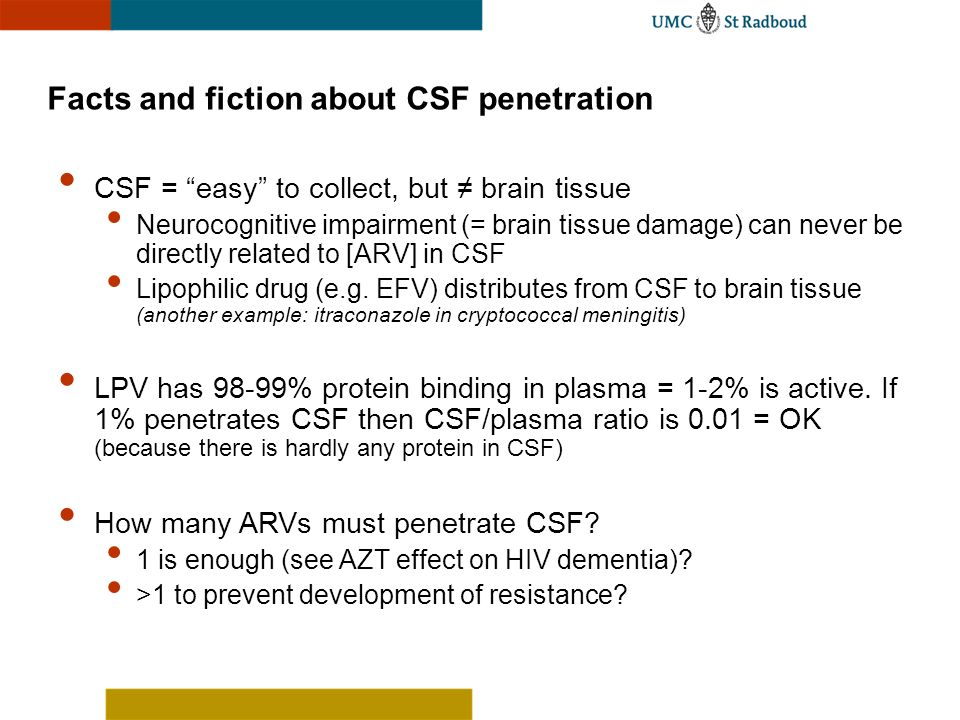 Facts and fiction about CSF penetration