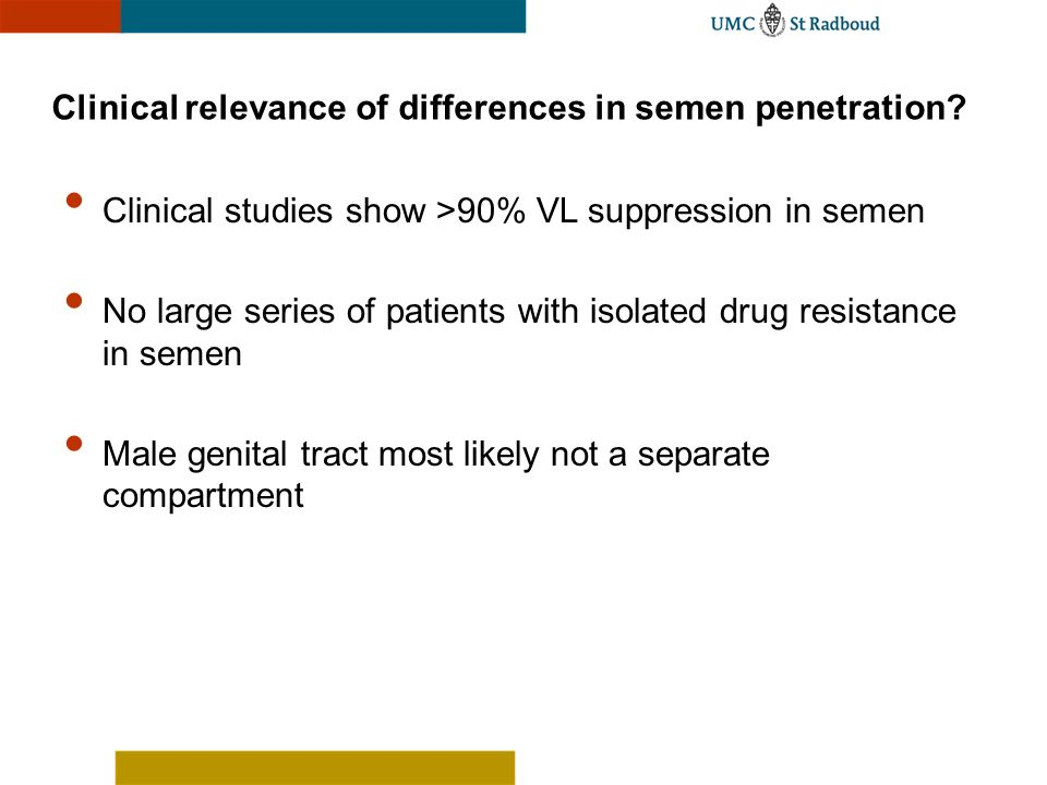 Clinical relevance of differences in semen penetration